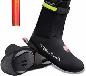 TEUME Bike Shoe Covers with Led Safety Light
